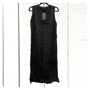NWT Zara Midi Silky Black Dress